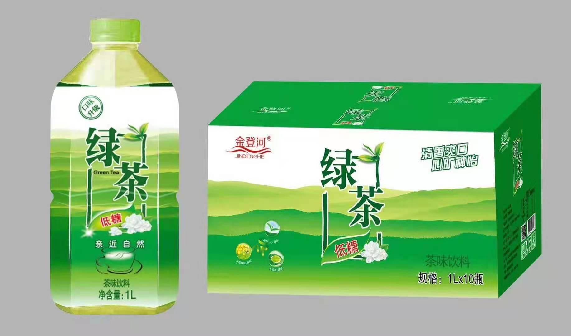 金登河绿茶1l