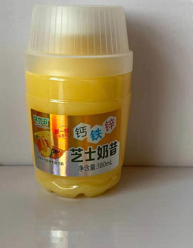 味优滋黄桃木瓜芝士奶昔380ml×15瓶