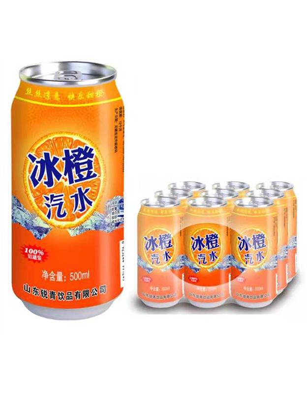 鲜橙味碳酸饮料500ml