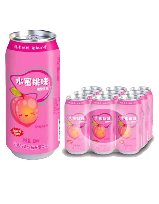 水蜜桃味碳酸饮料500ml