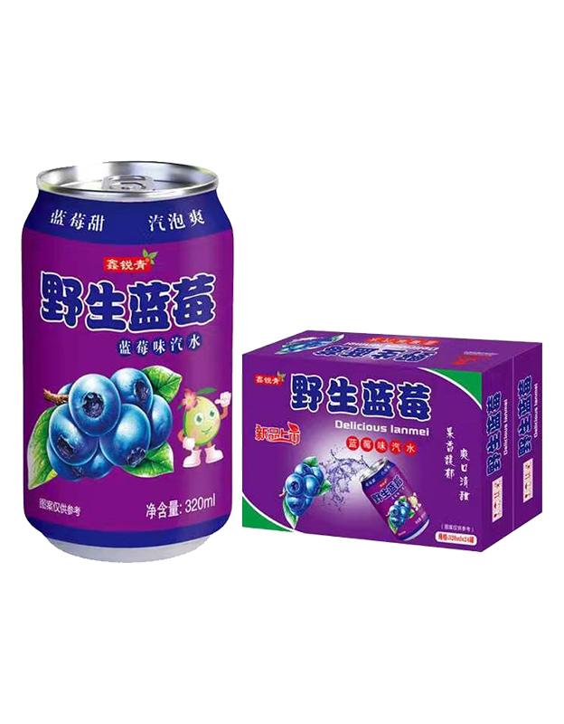 野生蓝莓味汽水320ml