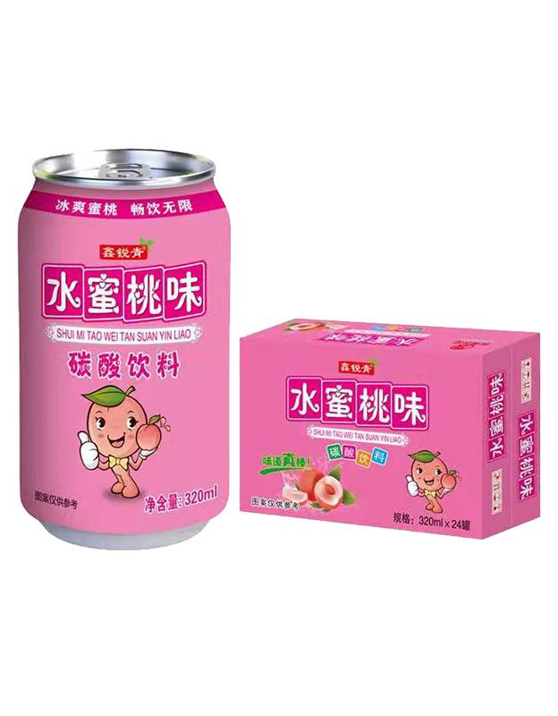 水蜜桃味碳酸饮料320ml