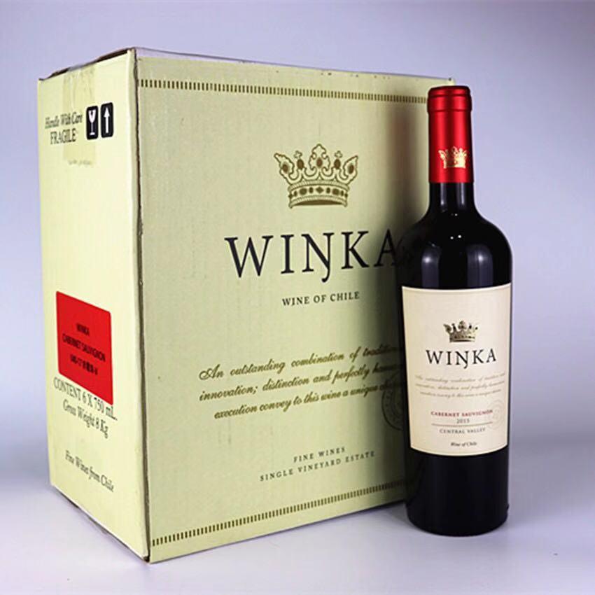 重庆红酒批发智利维卡赤霞珠干红葡萄酒