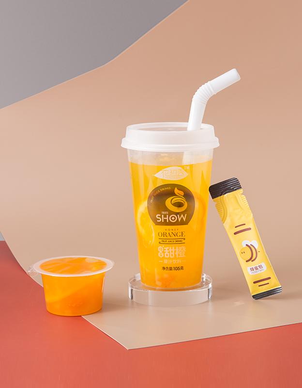 花初秀蜂蜜甜橙果汁饮料