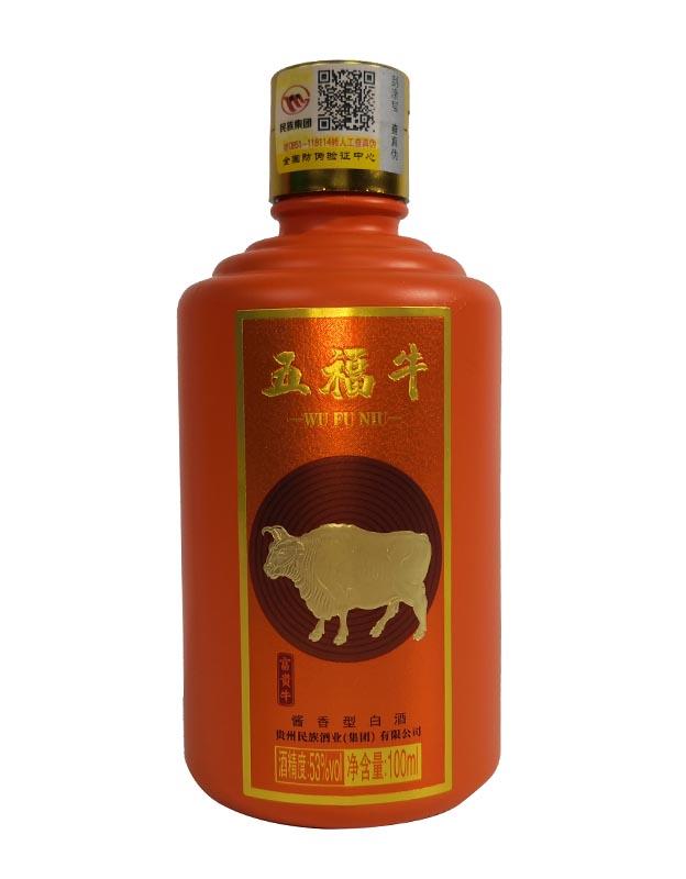 五福牛酒 �u香型白酒【53度 100ml】