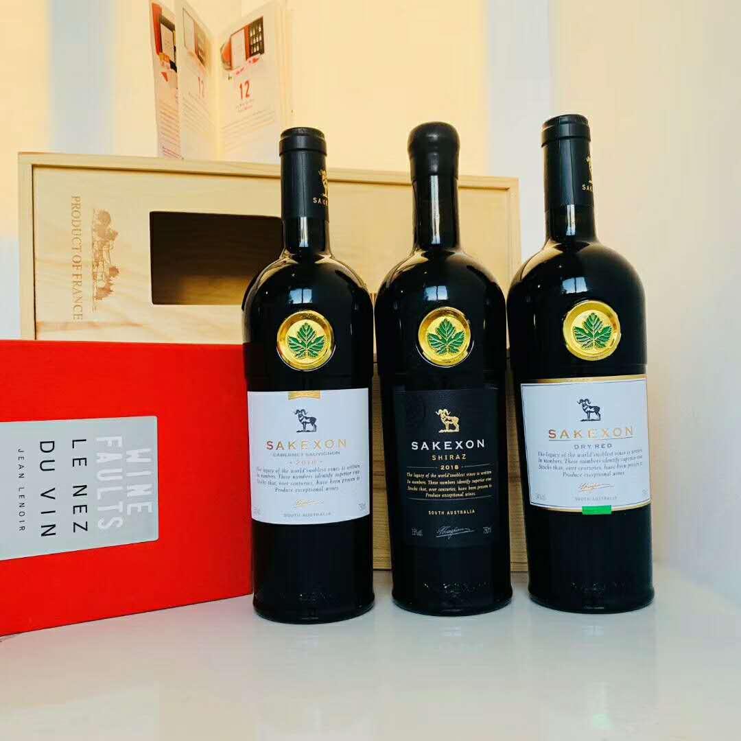撒克�d西拉干�t葡萄酒 澳洲有�C酒 朋友聚��用酒